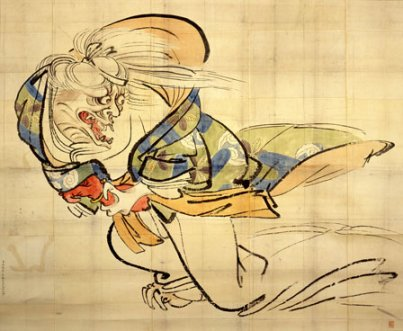 Shibata Zeshin, The Ibakari Demon, c. 1839-40, ink and color on paper, 51-1/2 x
