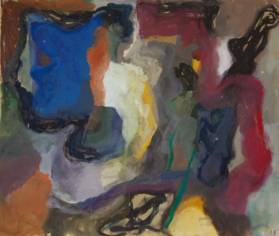 Ida Ekblad, Untitled, 2011, watercolor on paper, 26 x 30 inches (courtesy Greene