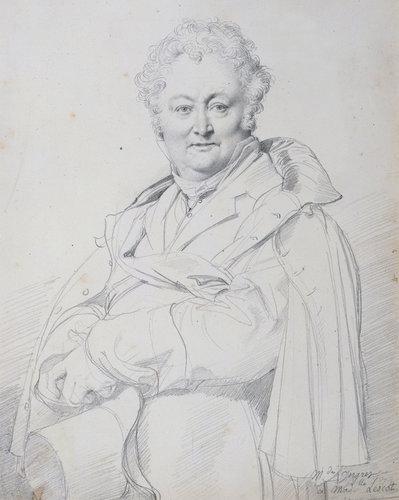 Jean-Auguste-Dominique Ingres (1780-1867), Portrait of Guillaume Guillon Lethier