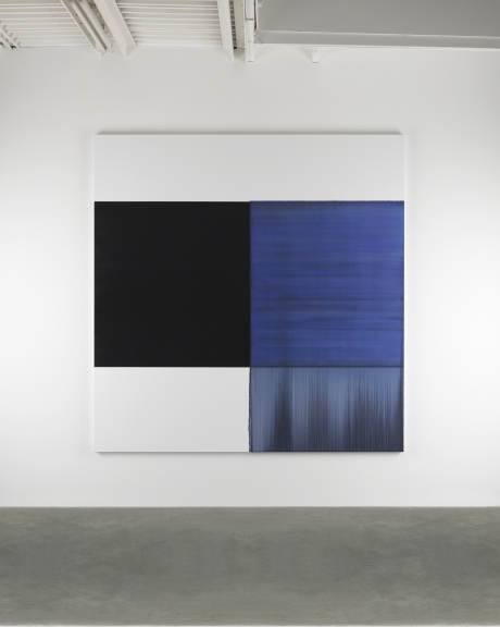 Callum Innes, Exposed Painting Blue Violet, 2014, oil on canvas, 235 x 230 cm (c