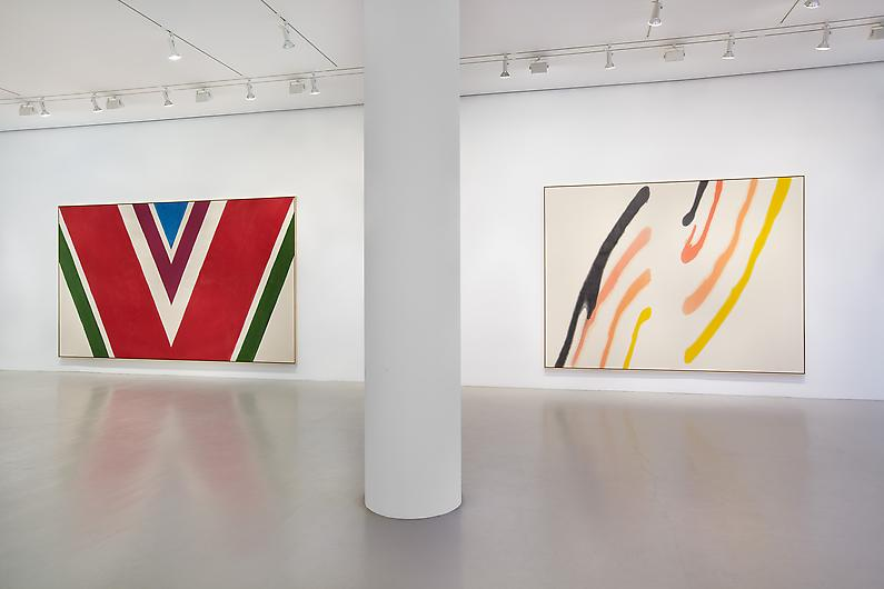 Installation view, Helen Frankenthaler, Morris Louis, Kenneth Noland and Frank S