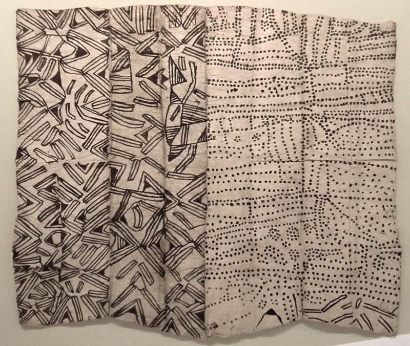 Ituri painted barkcloth (courtesy Fowler Museum, UCLA)