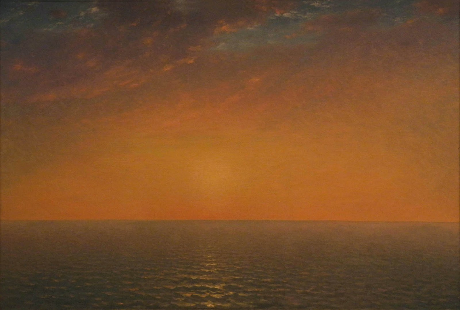 John Frederick Kensett, Sunset on the Sea, 1872, oil on canvas, 28 x 41 1/8 inch