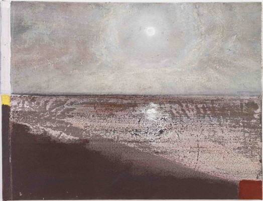 Merlin James, Effet de Lune, 2011, acrylic on canvas, 18 1/2 x 24 3/4 inches (co