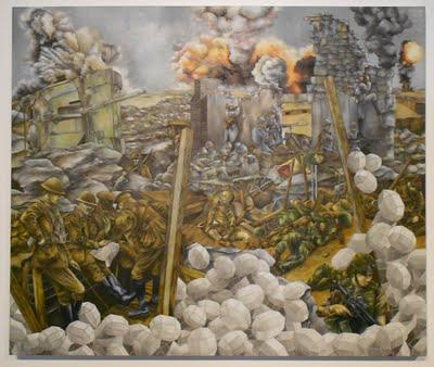 Jarrett Min Davis, Forward Post, 2011, oil on canvas
