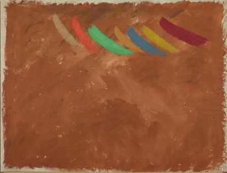 Jack Bush, Flute Passage, 1975, Acrylic polymer water-based on canvas, 32 1/2 x