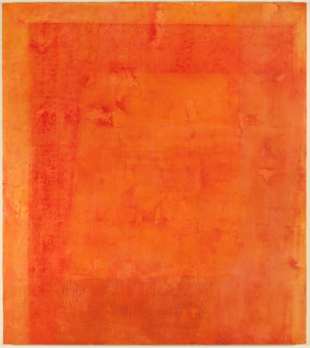 Jessica Dickinson, Always-Also, 2011 Oil on limestone polymer on panel 54.25 x 4