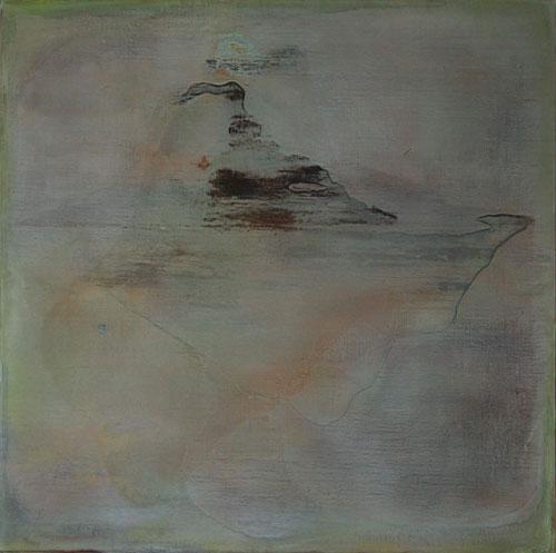 Guan Jingjing, Remnant mountain 13-04, 2013, tempera on canvas, 80 x 80 cm (cour