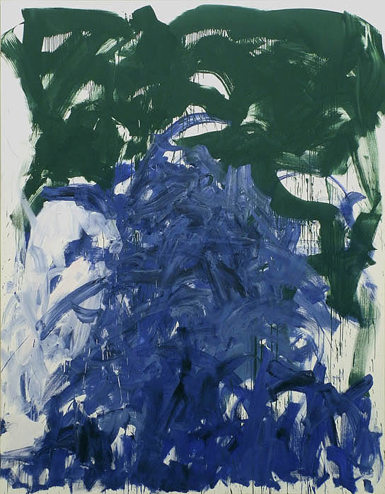 Joan Mitchell, Then, Last Time IV 1985, oil on canvas, 102 x 78 3/4 inches (cour