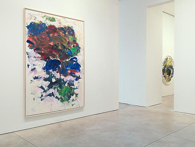 Installation view: Joan Mitchell, YVES, 1991, Oil on canvas, 110 1/4 x 78 3/4 in