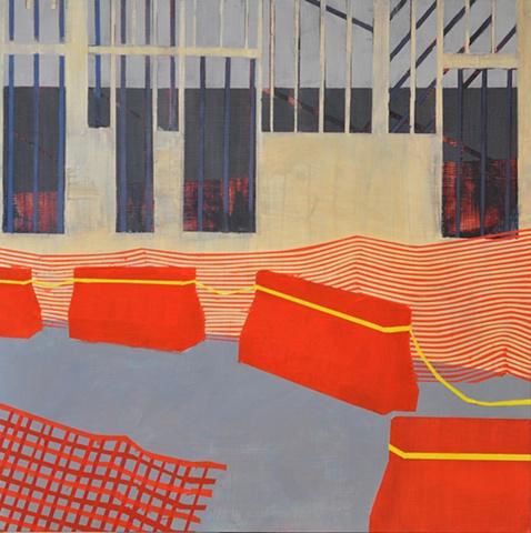 Jodi Hays, Untitled, 2012, oil on panel, 24 x 24 inches