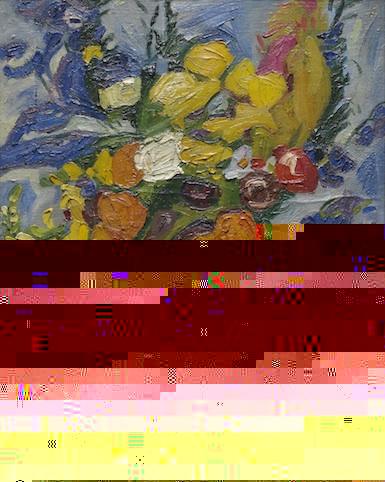 William H. Johnson, Untitled Still Life, Flowers, c. 1936-38 (courtesy of Morgan