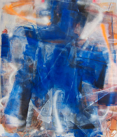 Mary Jones, Lit From Behind, 48 x 36 inches, 2011, oil and spray enamel on canva