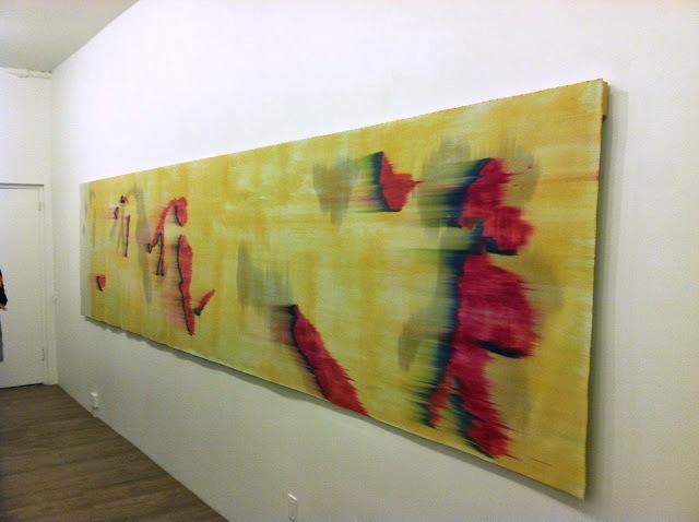 Hildur Ásgeirsdóttir Jónsson, Wind #3, 2013, 46 inches x 17 feet silk, industria