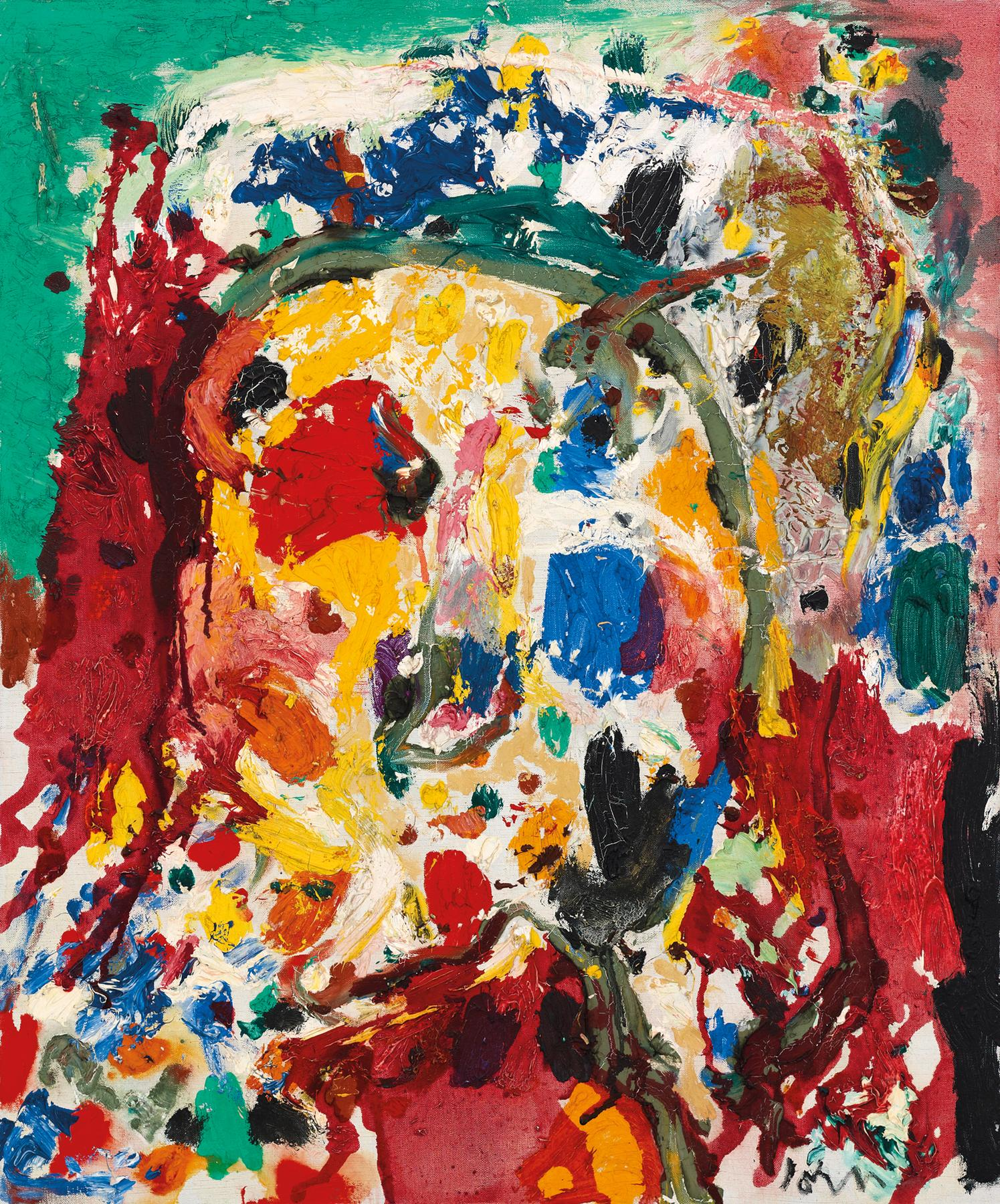 Asger Jorn, Rodt Lys (Red Light), 1960, oil on canvas, 25.6 x 21.3 inches (court
