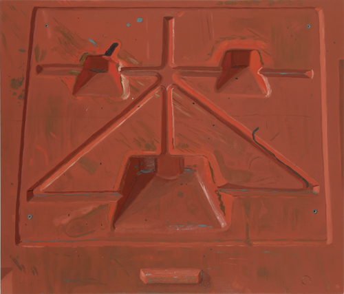 Josephine Halvorson, Barrier, 2011, Oil on linen, 36 x 42 inches (courtesy Sikke