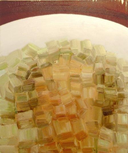 Dennis Kardon, Ice Bath, 2012, oil on linen, 36 x 30 inches (courtesy of the art