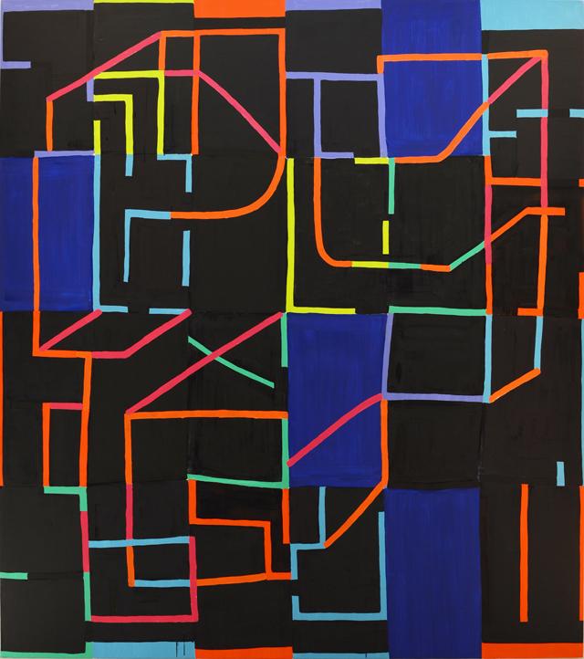 Jason Karolak, Untitled (P-1503), 2015, oil on linen, 88 x 78 inches (courtesy o