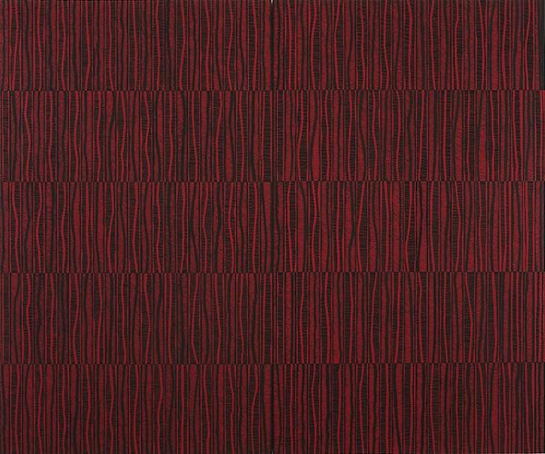 Katia Santibañez, The Red Path, 2011, Flashe On Panel, 60 x 72 inches (courtesy