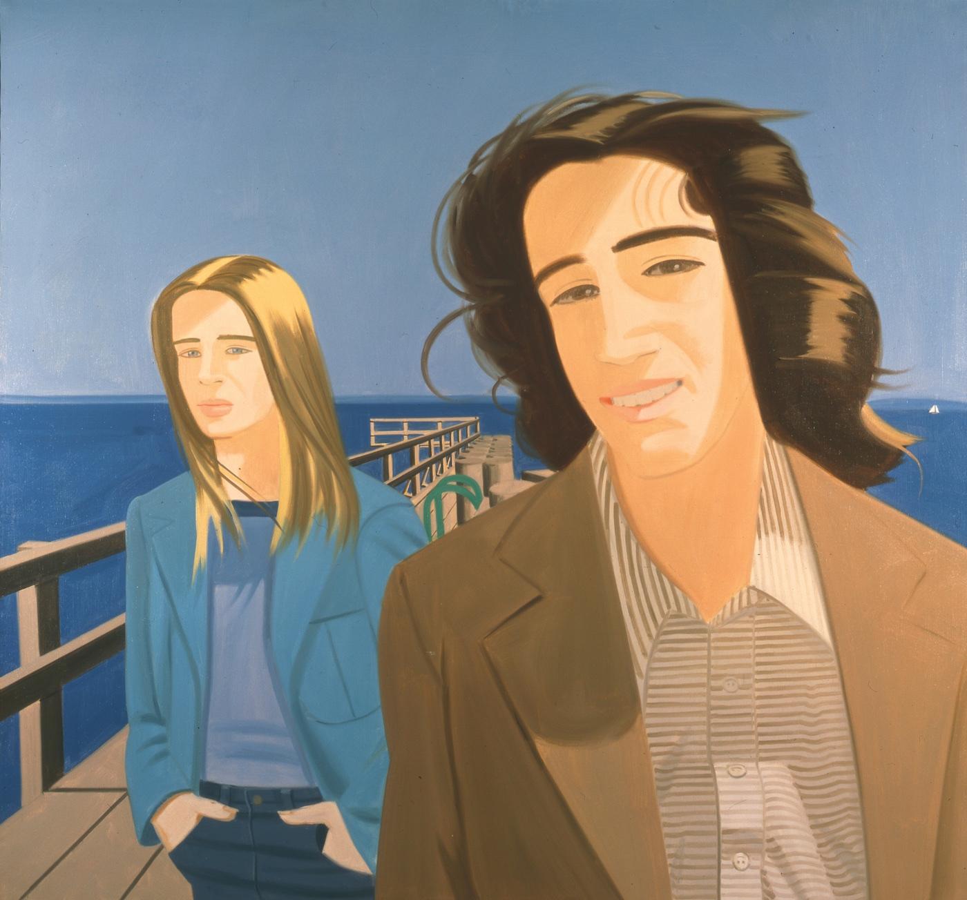 Alex Katz, Islesboro Ferry Slip, 1975, oil on linen, 78 x 84 inches (Art © Alex Katz/Licensed by VAGA, New York, NY)