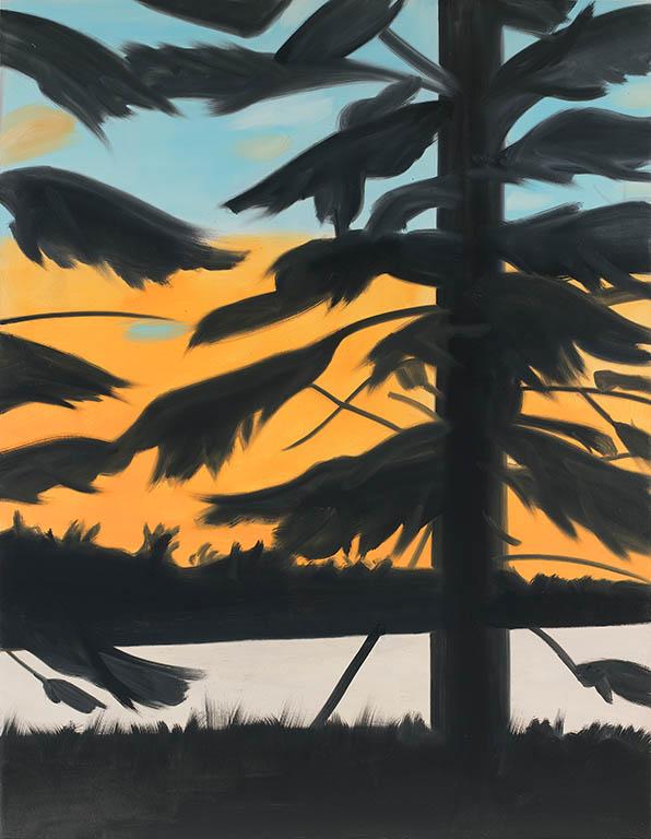 Alex Katz, Sunset 1, 2008, oil on linen (courtesy of the artist © Alex Katz/Lice