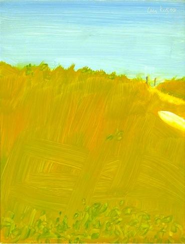 Alex Katz, White Boat, 2008, oil on board, 12 x 9 inches (courtesy of Peter Blum