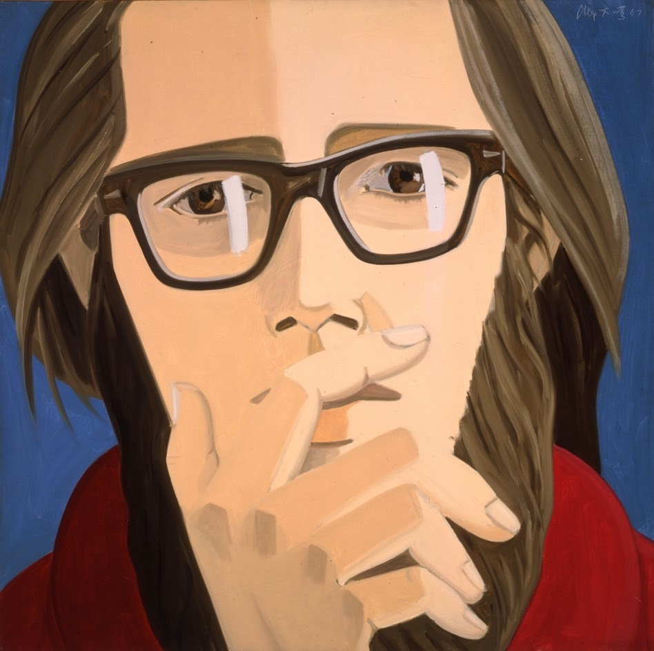 Alex Katz, Ted Berrigan, 1967, oil on linen, 48 x 48 inches (courtesy PaceWilden