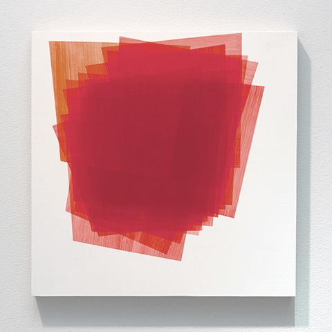 Betty Kaufman, Untitled, 2013, acrylic on wood panel, 16 x 16 inches (courtesy o