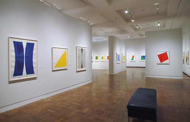 Installation view of Ellsworth Kelly/Prints at the Portland Art Museum (photos J