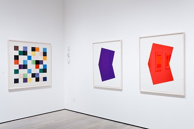 Installation view, Ellsworth Kelly: Prints and Paintings, Los Angeles County Mus