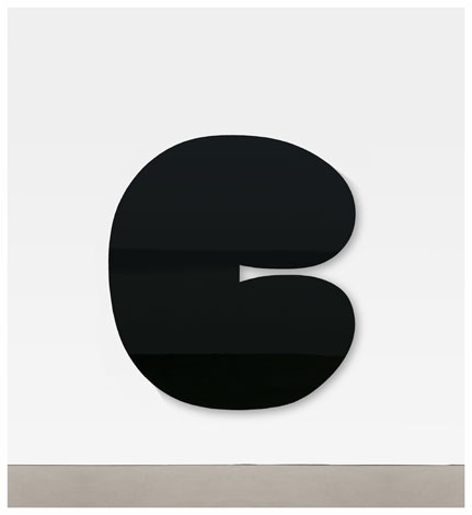 Ellsworth Kelly, Black Form II, 2011, painted aluminum, 80 x 71 3/4 x 4 1/4 inch