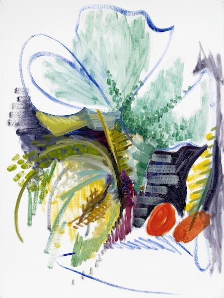 Todd Kelly, Melon 2, 2012, oil on canvas 24 x 18 inches (courtesy of Asya Geisbe