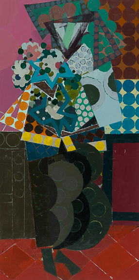 Ken Kewley, Figure IV, acrylic on board, 24 x 12 inches (courtesy of Gross McCle