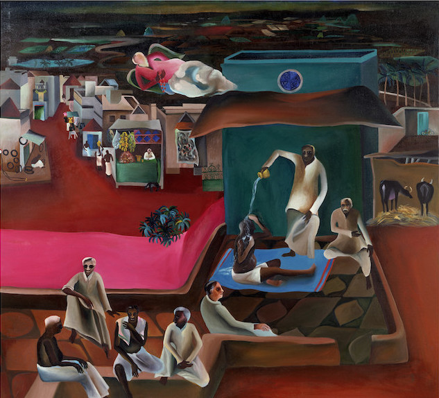 Bhupen Khakhar, Death in the Family, 1977 (Victoria and Albert Museum © The Estate of Bhupen Khakhar)