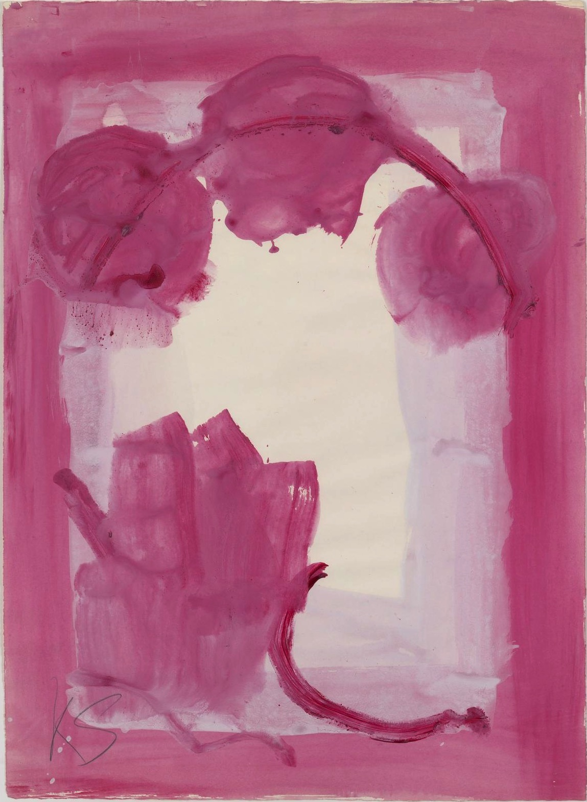 Kimber Smith, Untitled, 1976, gouache on paper, 26 x 19 inches (courtesy Modern