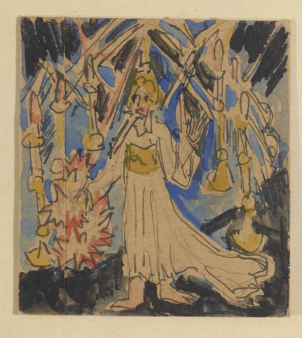 Ernst Ludwig Kirchner, Saint John's Vision of the Seven Candlesticks, 1917, Erns