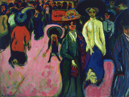 Ernst Ludwig Kirchner, Street, Dresden 1908 (reworked 1919; dated on painting 19