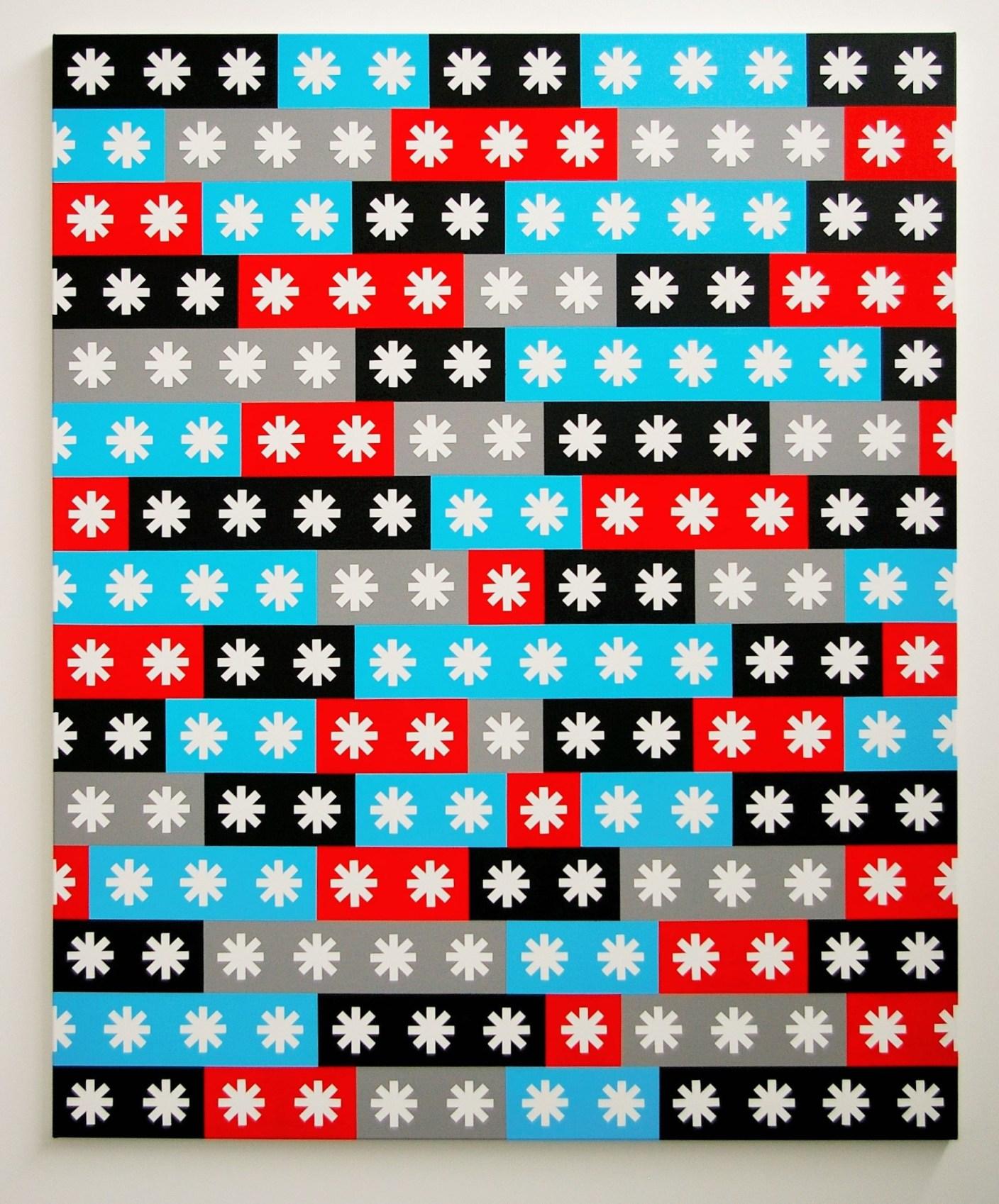 Richard Kirwan, Frame of Reference, 2012, acrylic on canvas, 168 x 137 cm (photo
