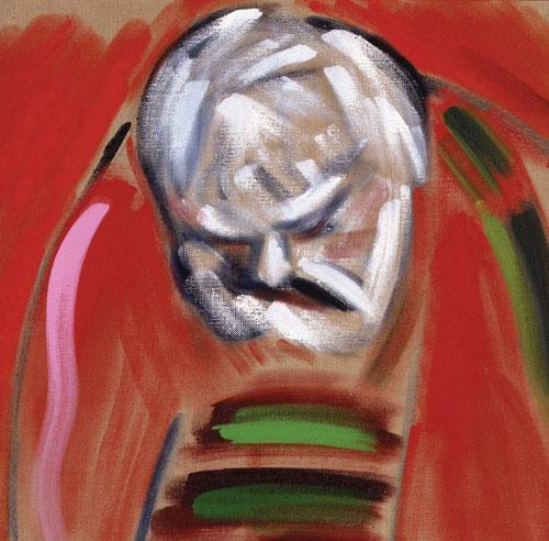 RB Kitaj, Self-Portrait (after Masaccio), 2005, oil on canvas, 61 x 61 cm, Priva