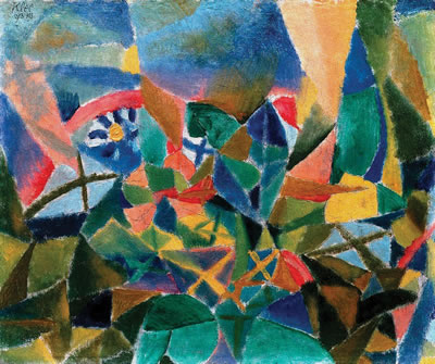 Paul Klee, Flower Bed (Blumenbeet), 1913, oil on cardboard, 11 1/8 × 13 1/4 inch