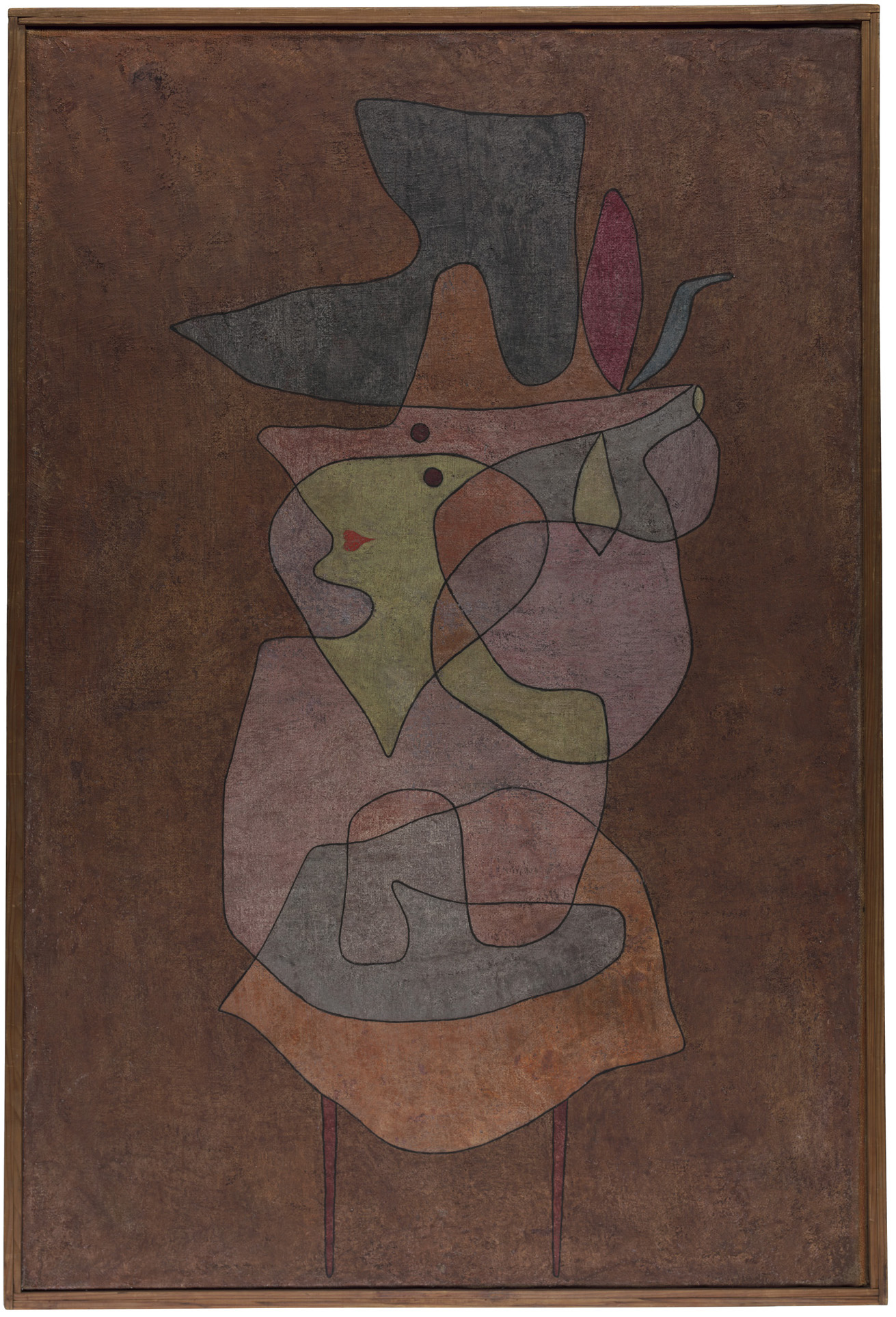 Paul Klee, Dame Démon, 1935, oil and watercolor on prepared hessian canvas on card (courtesy Zentrum Paul Klee, Bern)