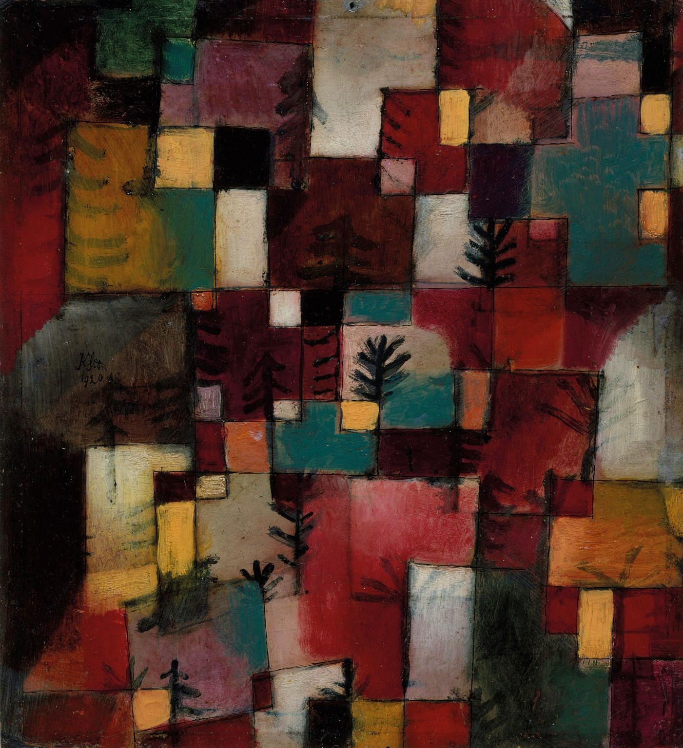 Paul Klee, Redgreen and Violet-Yellow Rhythms, 1920 (© The Metropolitan Museum o
