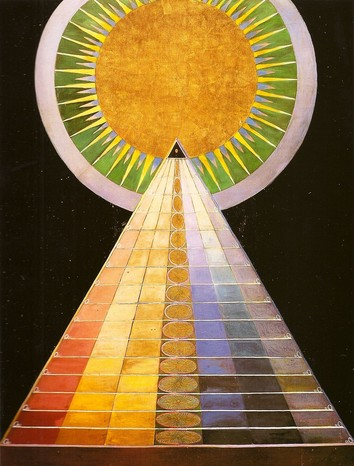 Hilma af Klint, Untitled #1, 1915, oil and gold on canvas (private collection)