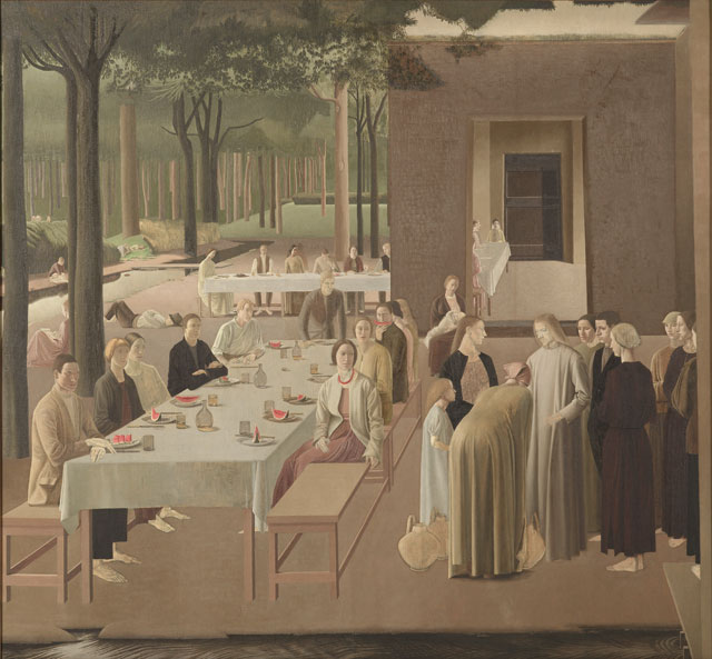 Winifred Knights, The Marriage at Cana, 1923, oil on canvas, 184 x 200 cm (Collection of the Museum of New Zealand Te Papa Tongarewa Gift of the British School at Rome, London, 1957 © The Estate of Winifred Knights)
