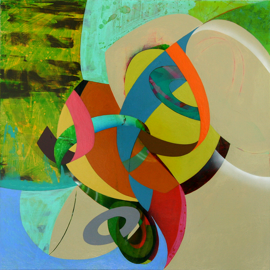 Kim Krause, Eleusinian Mysteries S.F. #4, 2012, acrylic on panel, 21 x 21 inches