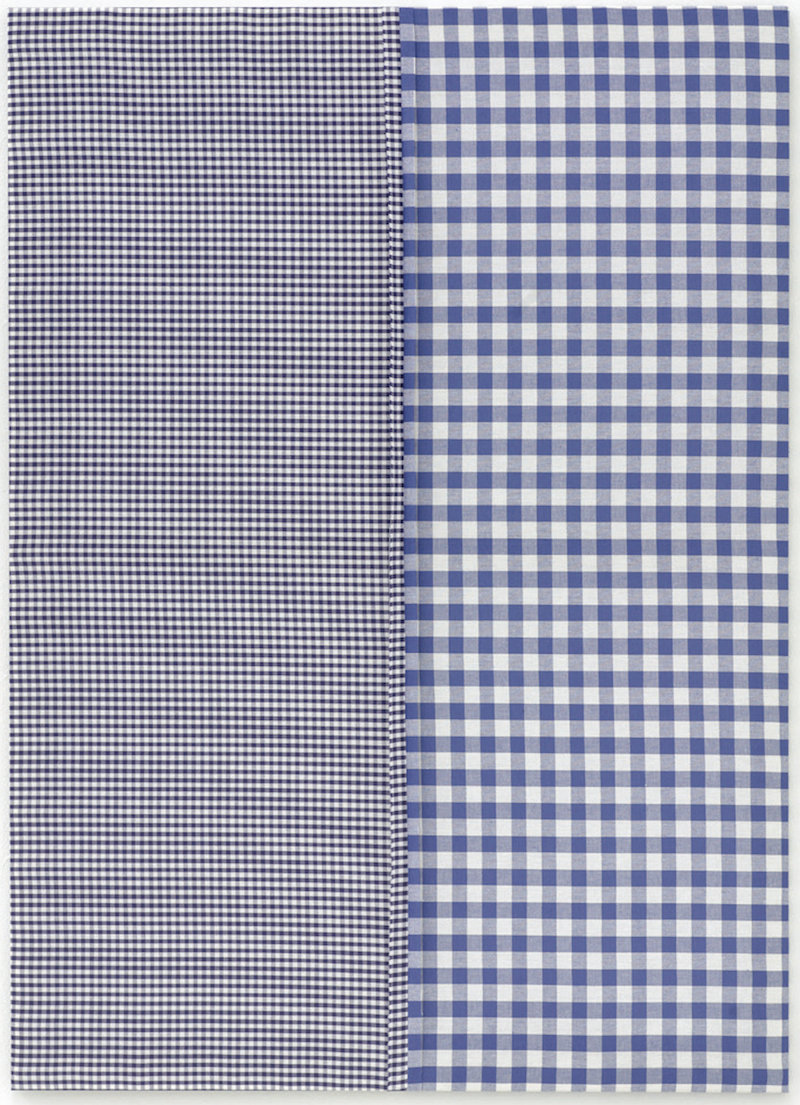 Michael Krebber, Untitled, fabric on canvas, 120 x 90 cm, 2006 (courtesy of dép