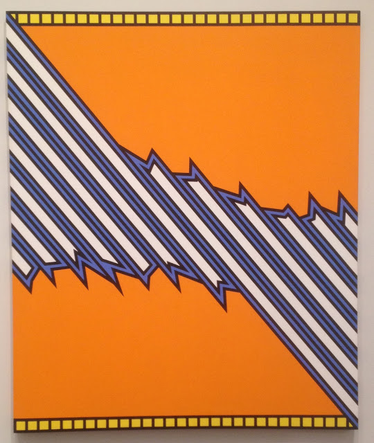 Nicholas Krushenick, Greensboro, 1975, acrylic on canvas (Collection of Tommas W