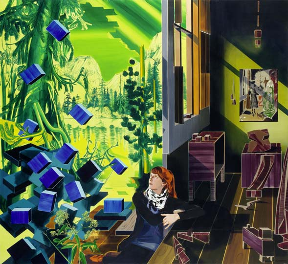 Susanne Kuehn, Green - The Arnolfinis, 2011, 220 x 240 cm, acrylic on canvas, (c