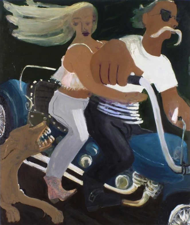 Kyle Staver, Bad Dog on Sparta Road, 2007, oil on linen, 56 x 58 inches © K