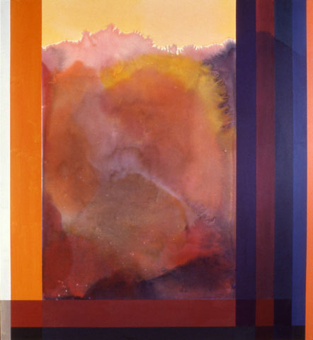 Ronnie Landfield, Joseph's Coat, 1986, acrylic on canvas, 88 x 81 inches (courte